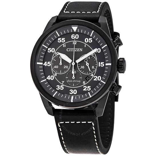 Citizen Avion Eco-Drive Chronograph Luminous Hands Men's Watch CA4215-21H | Joma Shop