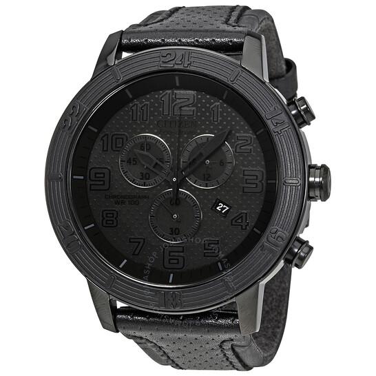 Citizen BRT Eco-Drive Chronograph Black Dial Men's Watch AT2205-01E | Joma Shop
