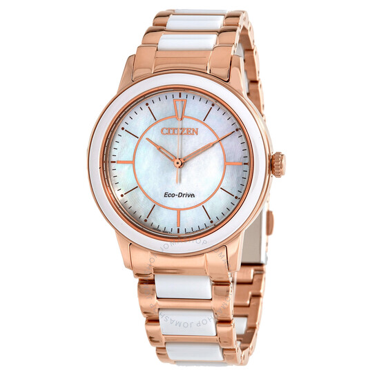 Citizen Chandler White Mother of Pearl Dial Ladies Watch EM0743-55D | Joma Shop