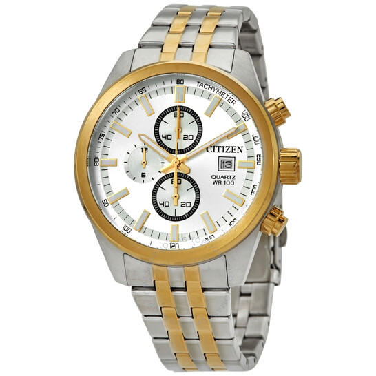 Citizen Chronograph Quartz Silver Dial Two-tone Men's Watch AN3624-51A   Joma Shop