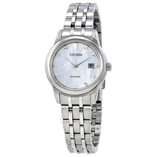 Citizen Diamond Mother of Pearl Dial Ladies Watch EW2390-50D | Joma Shop