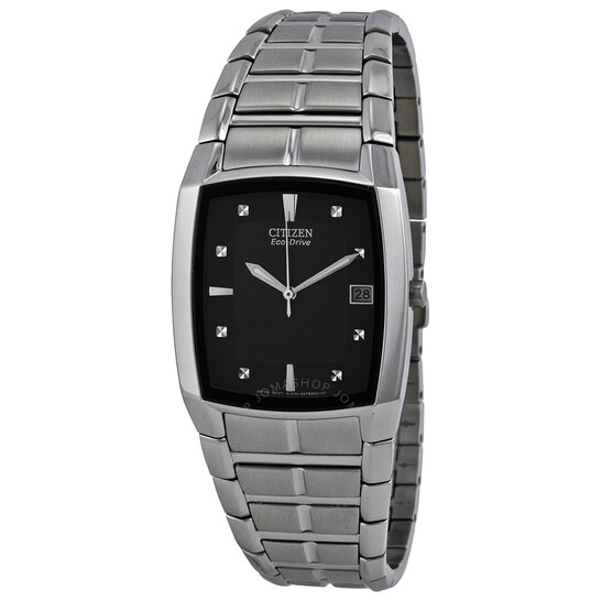 Citizen Eco Drive Black Dial Stainless Steel Men's Watch BM6550-58E | Joma Shop