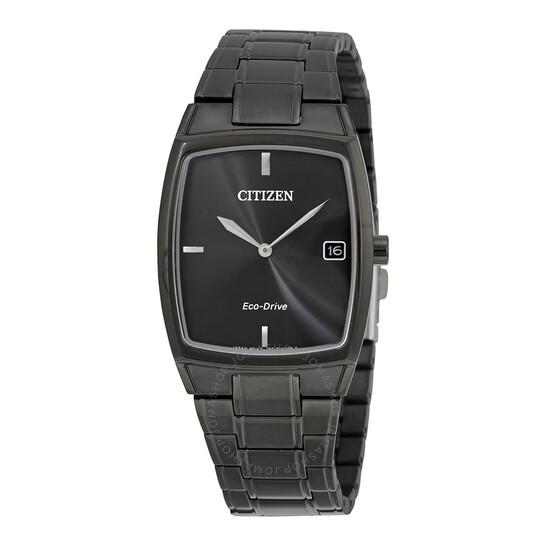 Citizen Eco-Drive Black Stainless Steel Men's Dress Watch AU1077-59H   Joma Shop