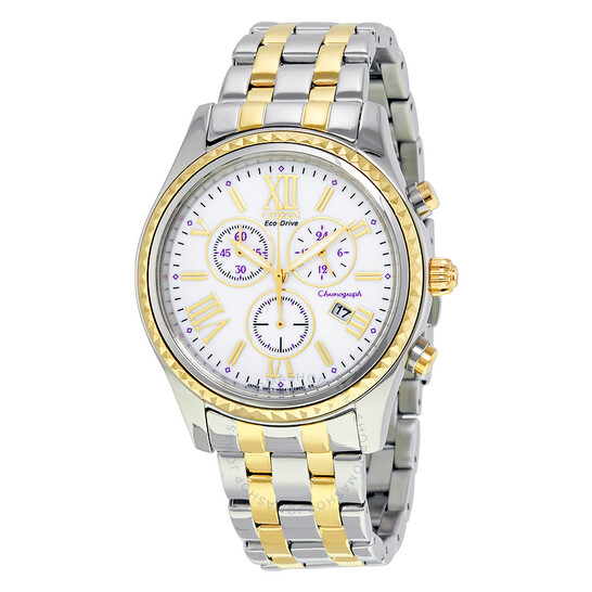 Citizen Eco-Drive Chronograph Two-Tone Stainless Steel Ladies Watch FB1364-53A   Joma Shop