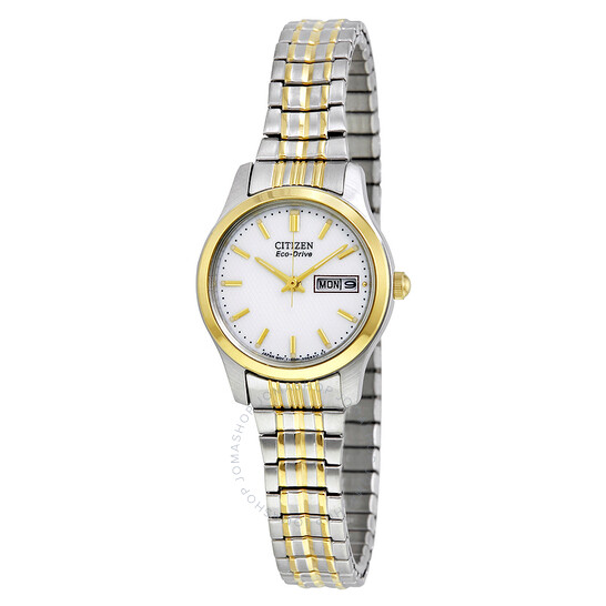 Citizen Eco-Drive Expansion White Dial Two-tone Ladies Watch EW3154-90A   Joma Shop