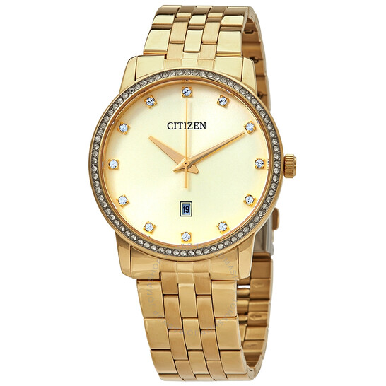 Citizen Gold Crystal Dial Yellow Gold-tone Ladies Watch BI5032-56P | Joma Shop