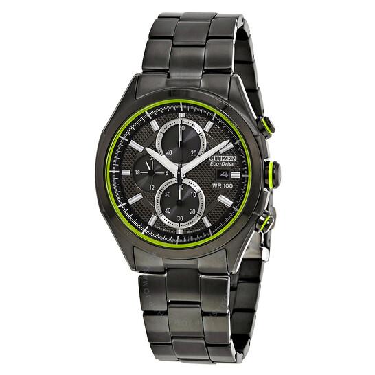 Citizen HTM Black Dial Black Ion-plated Men's Watch CA0435-51E   Joma Shop