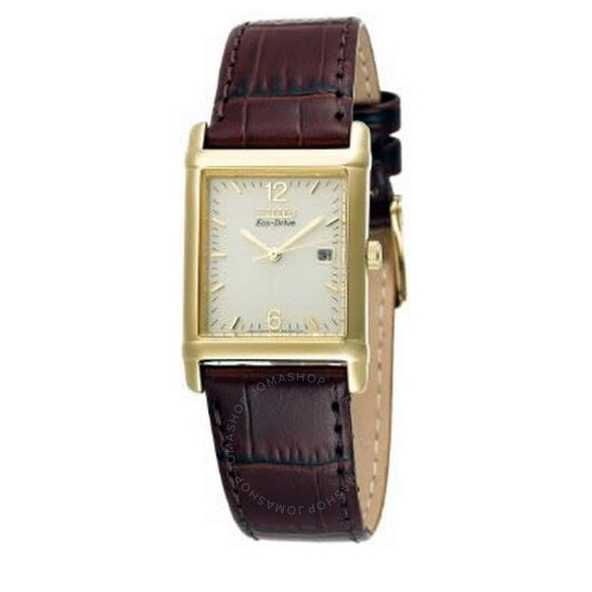 Citizen Men's Eco-Drive 180 Gold-Tone Leather Watch BW0072-07P   Joma Shop