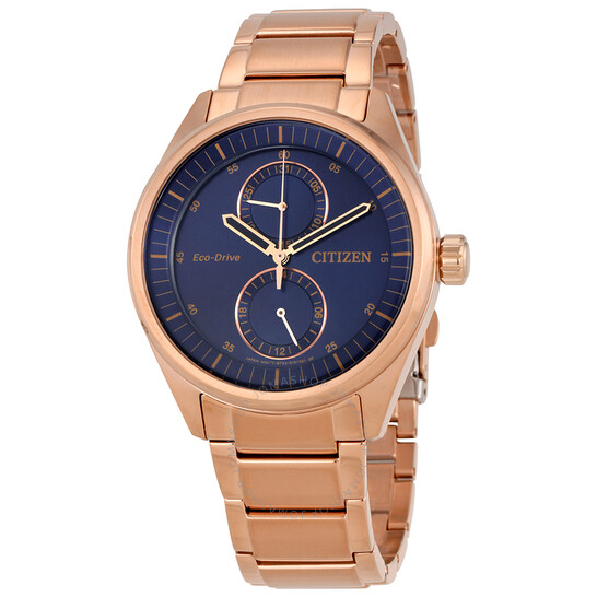 Citizen Paradex Blue Dial Rose Gold-tone Men's Watch BU3013-53L | Joma Shop