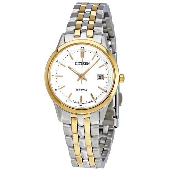 Citizen Sapphire Eco-Drive White Dial Ladies Watch EW2404-57A | Joma Shop