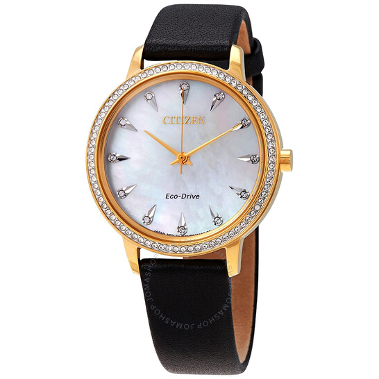 Citizen Silhouette Crystal Mother of Pearl Dial Ladies Watch FE7042-07D | Joma Shop
