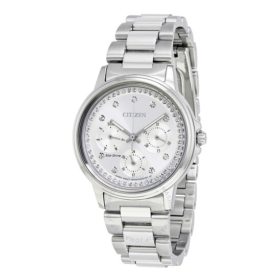 Citizen Silhouette Eco-Drive Multi-Function Silver Dial Ladies Watch FD2040-57A   Joma Shop