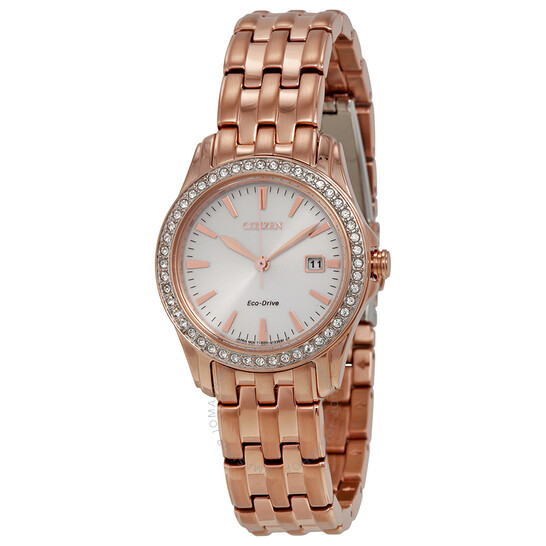 Citizen Silhouette Crystal Silver Dial Ladies Watch EW1903-52A | Joma Shop