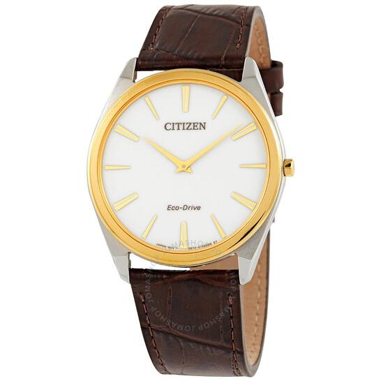 Citizen Stiletto Eco-Drive White Dial Men's Watch AR3074-03A   Joma Shop