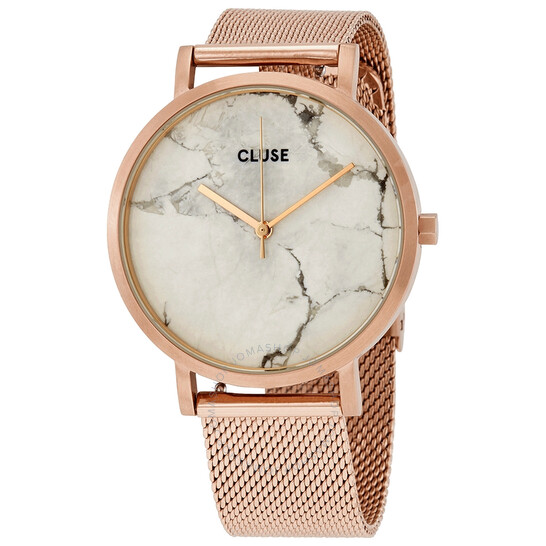 Cluse Roche Quartz Marble Dial Ladies Watch CL40007   Joma Shop