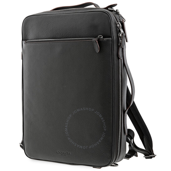 Coach Black Convertible Metropolitan Pebbled Leather Backpack