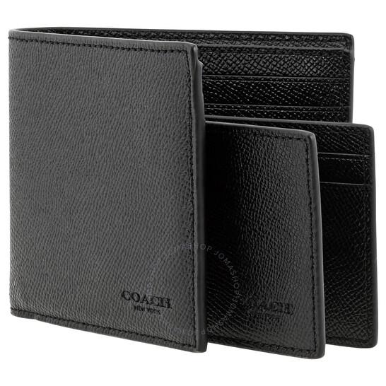 Coach Black Men's 3-In-1 Wallet   Joma Shop