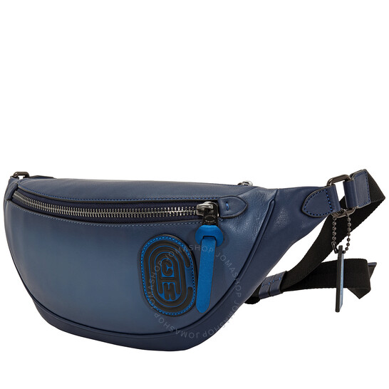 Coach Blue/Multi Rivington Belt Bag In Colorblock