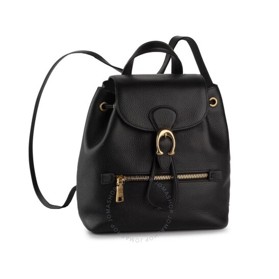 Coach Ladies Black Pebble Leather Evie 22 Backpack