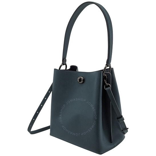 Coach Ladies Charlie Bucket Bag in Pewter/Pine Green