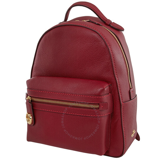 Coach Ladies Deep Red Campus Backpack