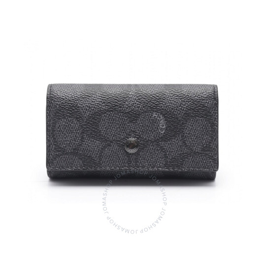 Coach Signature Canvas 4 Ring Key Case