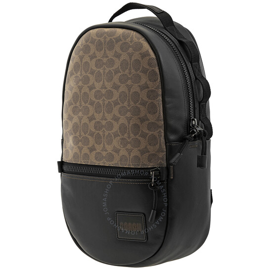 Coach Signature Canvas With Coach Patch Pacer Backpack