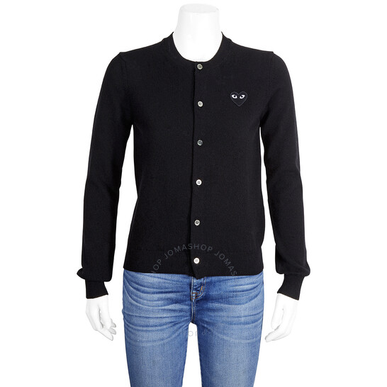 Comme Des Garcons Black Heart Logo Cardigan, Brand Size X-Small | Joma Shop