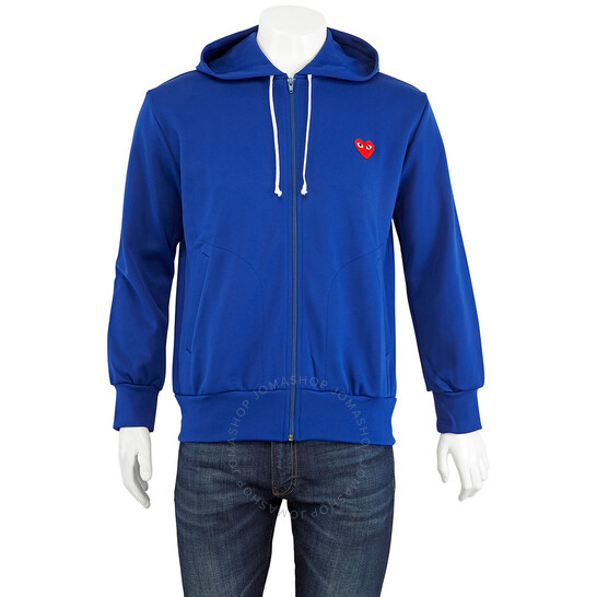 Comme Des Garcons Heart Logo-embroidered Jersey Zip Hoodie, Brand Size X-Large | Joma Shop