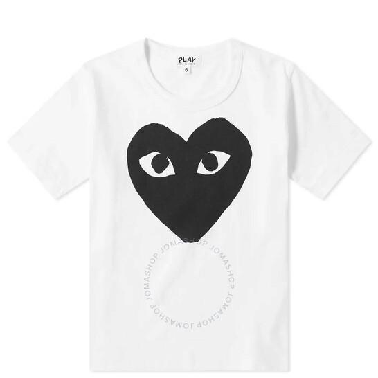 Comme Des Garcons Kids Big Heart Print Short Sleeve T-shirt, Brand Size 2 Youth/Juniors   Joma Shop