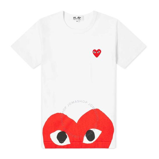 Comme Des Garcons Ladies Double Heart Print T-shirt, Brand Size Large | Joma Shop