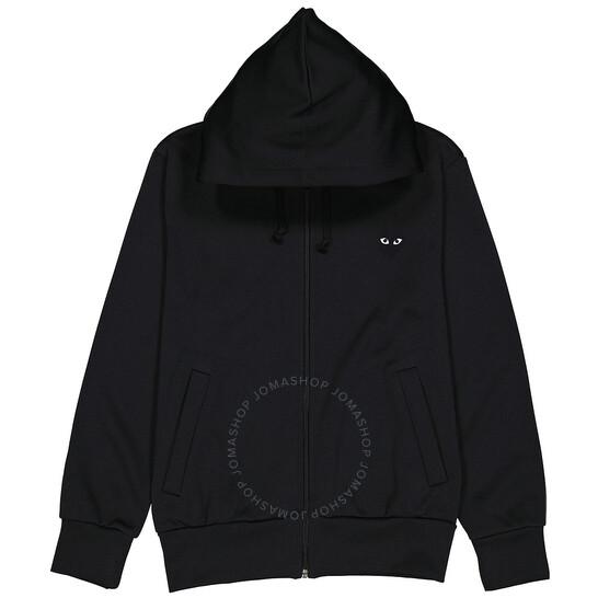 Comme Des Garcons Men's Black Heart Print Hoodie, Brand Size X-Large | Joma Shop