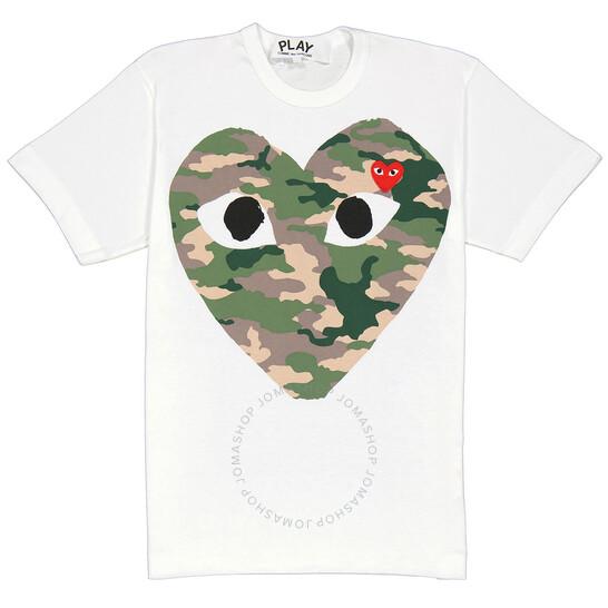 Comme Des Garcons Men's Short-sleeve Camouflage Heart Print T-shirt, Brand Size Medium | Joma Shop