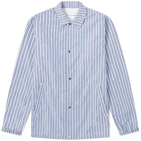 Comme Des Garcons Shirt Stripe Coach Jacket