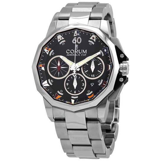 Corum Admirals Cup Chronograph Automatic Black Dial Mens Watch A753/04215
