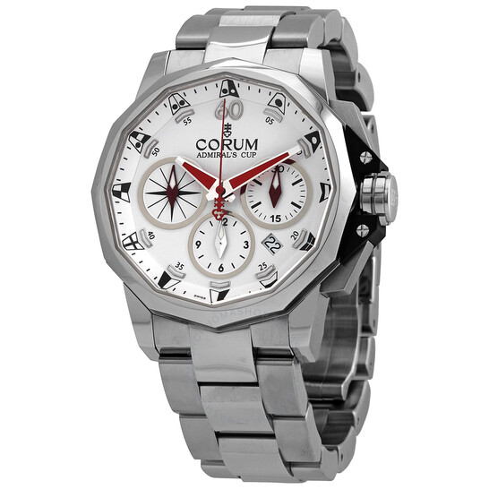 Corum Admirals Cup Chronograph Automatic White Dial Mens Watch A753/04202
