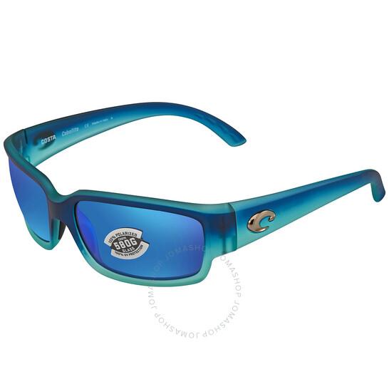 Costa Del Mar Blue Mirror Wrap Men's Sunglasses (CL 73 OBMGLP)