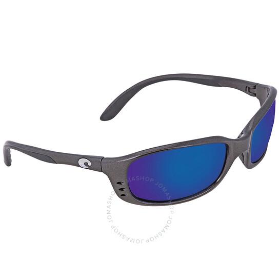 Costa Del Mar Brine Blue Mirror Glass Polarized Large Fit Sunglasses