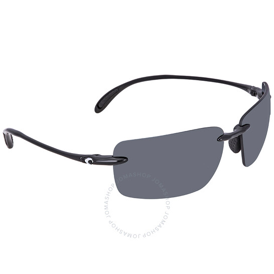 Costa Del Mar Gulf Shore Shiny Black Frame Gray 580P plastic Polarized Lens