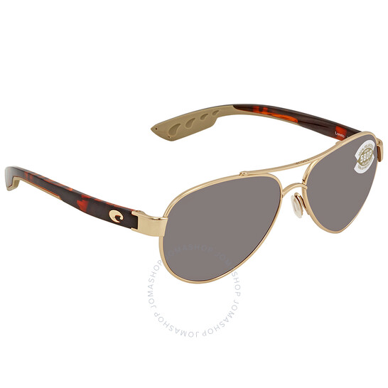 Deals on Costa Del Mar Loreto 580P Aviator Sunglasses LR 64 OSCP