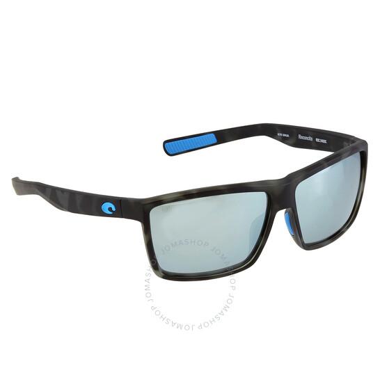 Costa Del Mar Rinconcito Polarized Gray Silver Mirror Square Sunglasses RIC