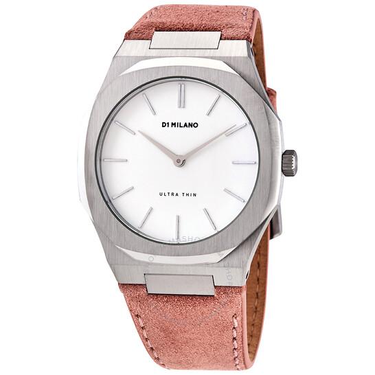 D1 Milano Ultra Thin Quartz White Dial Ladies Watch UTLL07   Joma Shop