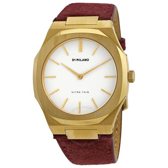 D1 Milano Ultra Thin Quartz White Dial Ladies Watch UTLL09 | Joma Shop