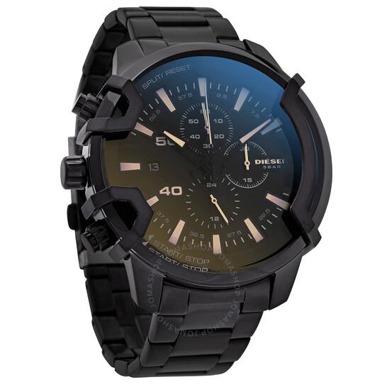 Diesel Griffed Chronograph Quartz Black Dial Men's Watch DZ4529   Joma Shop