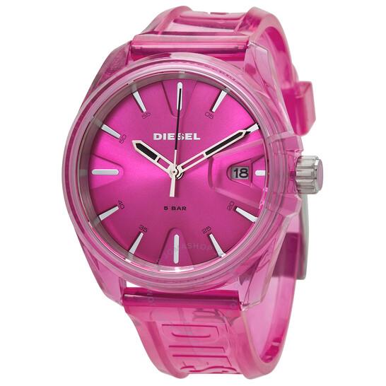 Diesel MS9 Quartz Pink Dial Ladies Watch DZ1929 | Joma Shop