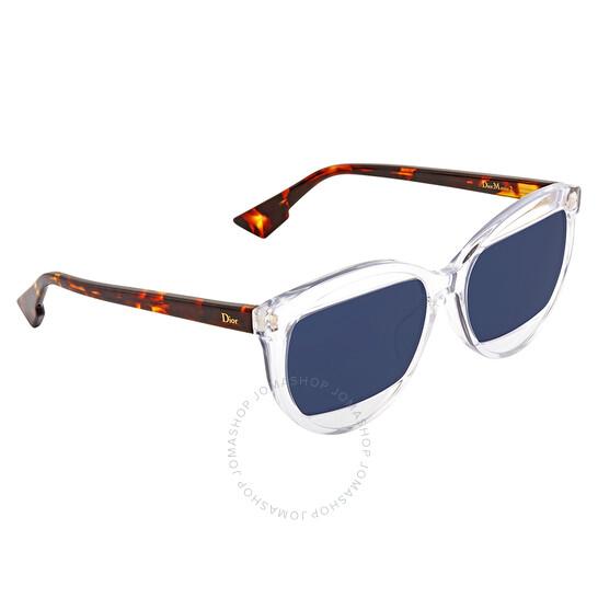 Dior Blue Round Sunglasses (DIOR MANIA 2/S 0T6V)