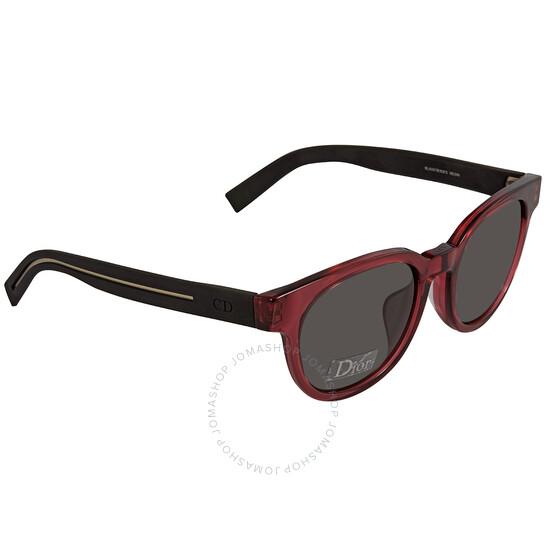 DIOR Grey Oval Men's Sunglasses (BLACK182FS MD3 52)