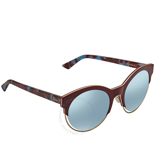 Dior Sideral 1 Silver Mirror Round Ladies Sunglasses