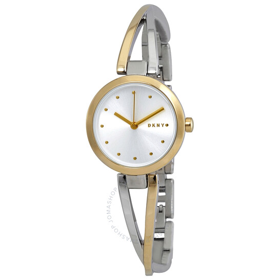 Dkny Crosswalk Quartz Silver Dial Two-tone Ladies Watch NY2790 | Joma Shop