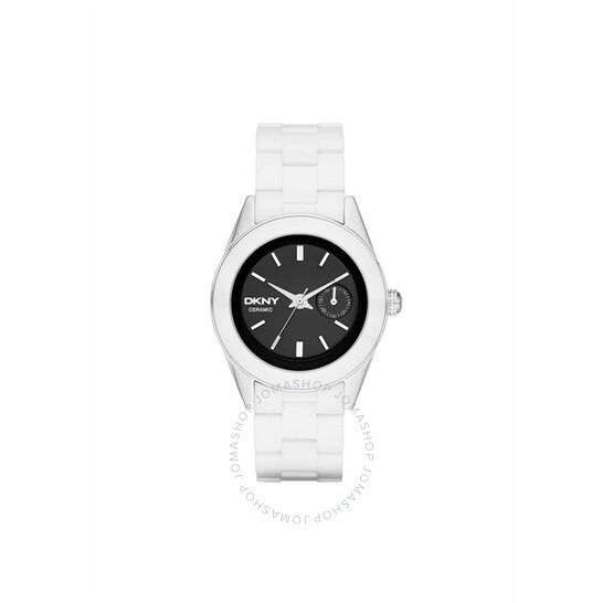 Dkny Jitney Black Dial White Ceramic Ladies Watch NY2142 | Joma Shop